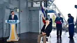 2 WWII veterans were awarded the Legion of Honor onboard the Intrepid (...)