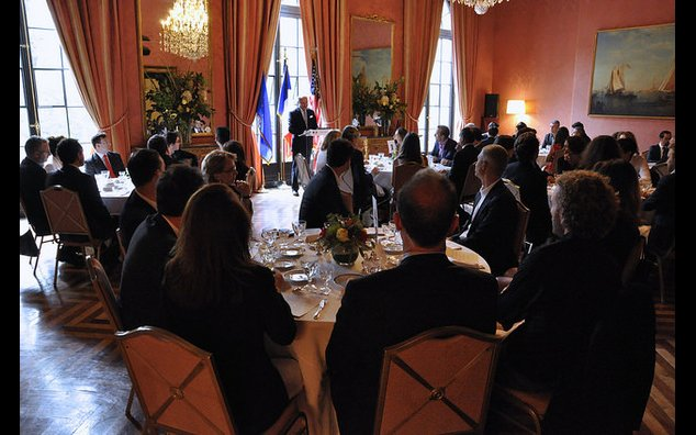 Lunch with the French Tech in presence of M. Laurent Fabius
