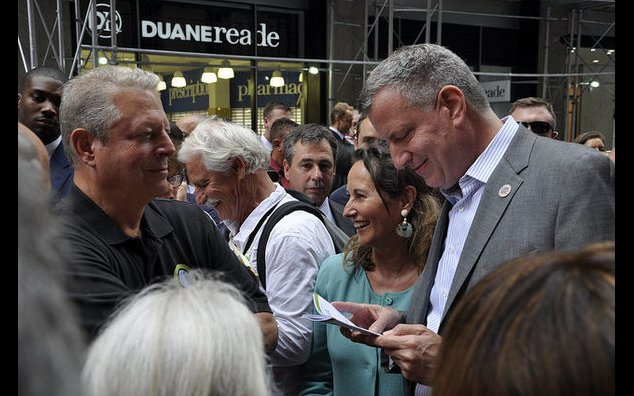 Climate March - Mrs Royal, M. Bill de Blasio and M. Al Gore