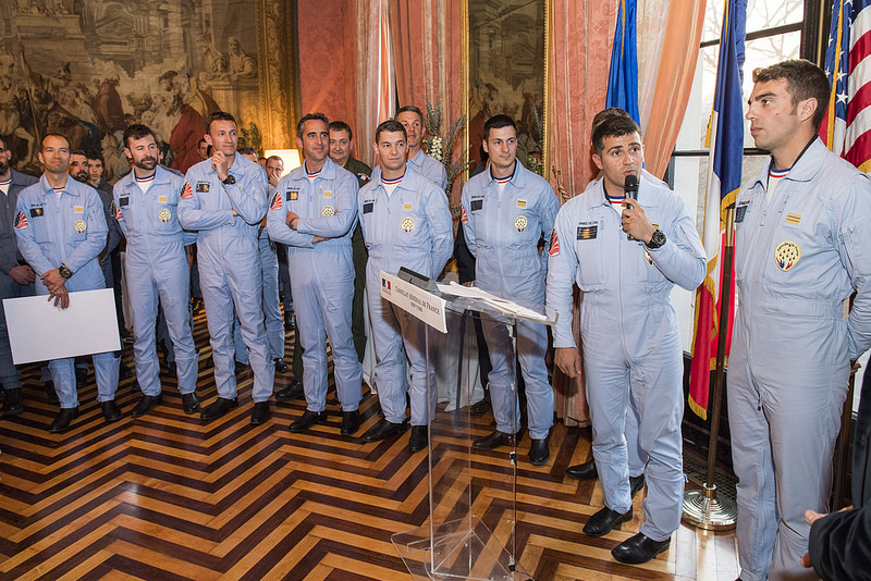 Reception de la Patrouille de France - 24 mars 2017