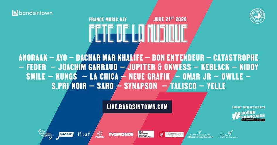 Bandsintown LIVE Celebrates Fête de la Musique / Make Music Day ...